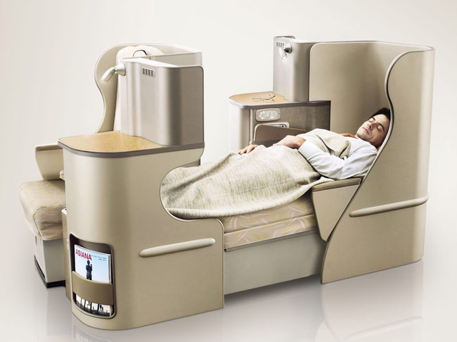 New Flat Bed seat from Asiana Airlines